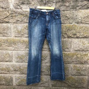 Paper Denim Cloth Mens Distressed Straight Jeans